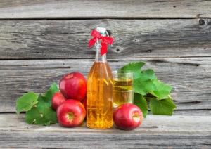 обработка мест поражения яблочным уксусом