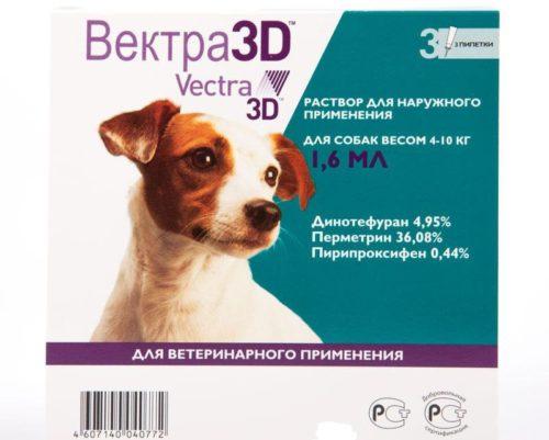 Средство Вектра 3D от клещей для собак