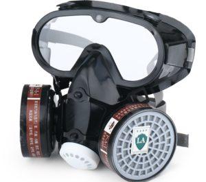 респиратор и очки для защиты